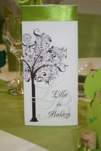 Őszi esküvői dekoráció