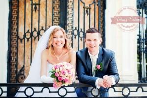 Rózsaszín menyasszonyi csokor